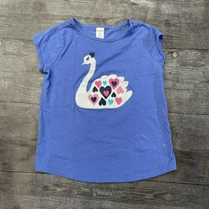 NWT Gymboree  Flowers Tee Shirt Top Girls Outlet Light Blue